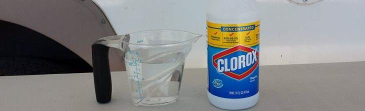 sanitize your fresh water tank